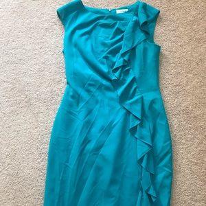 Teal Calvin Klein dress size 8